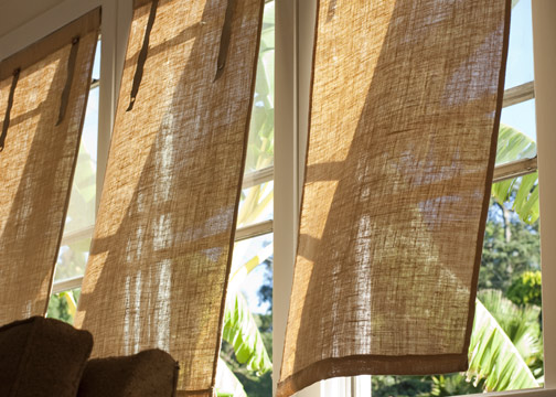 Diy Burlap Window Coverings Burke Decor