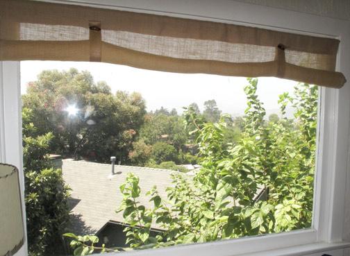 Diy burlap window coverings burke decor