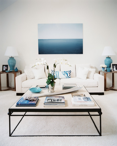 get the look: transitional blue and white...